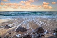 surf, sunrise, tide, Polihale State Park, Kauai, Lihue