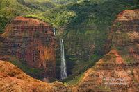 waterfall, Kauai, attraction, Waimea Canyon, state park, Hawaii, Hawaiian, island