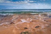 Poipu, shoreline, beach, tidal, patterns, Kauai, Hawaii, Pacific Ocean