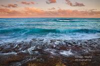sunset, waves, tide pools, cove, Lihue, Hawaii,  coast , sea, hike, Kauai