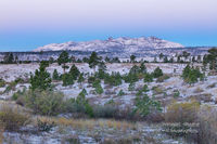 snowy, morning, blue hour, Bandalier, National Monument, NM,  New Mexico, Los Alamos
