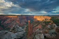 sunset, light, Canyon De Chelly, national monument, Arizona, blue, monsoon