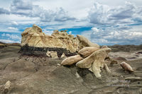 Bisti, Farmington, desert, arid, storm light, New Mexico, NM, badlands, Shiprock