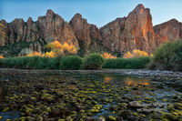 reflections, Salt River, Mesa, AZ, Arizona, Tonto National Forest, autumn, afternoon, sublime