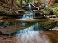 waterfall, gibson falls, pa, loyalsock state forest, cascade, off trail