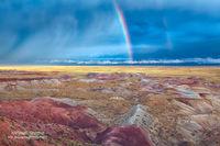 painted desert, Winslow, AZ, Arizona, County Park, rainbow, Juen, storm, explore, pictures, light