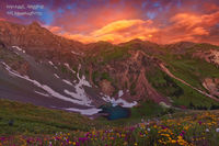 Sunrise, amazing, Silverton, lake, Colorado, CO, alpine, San Juan National Forest, San Juan Mountains, hiking, ebook, photographing