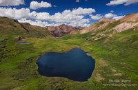 San Juan Mountains, Lake City, Cataract Lake, CO, Colorado, alpine, backcountry, lake