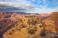 Grand Canyon National Park, AZ, Arizona, South Rim, Mohave Point, autumn, light, storm