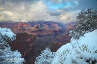 snow, Grand Canyon, AZ, national park, clouds, storm