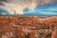 Bryce Canyon National Park, Utah, clouds, sunset, UT