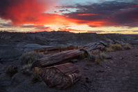 AZ, Arizona, Petrified Forest, Painted Desert, Holbrook, vistas, clouds, black forest, vistas, national park, sunrise, fiery