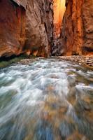 light, zion national park, ut, utah, the narrows, dark passage, swift moving