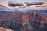 Grand Canyon National Park, Point Sublime, sunset, clouds, North Rim, South Rim, Colorado River, backcountry, windy, AZ