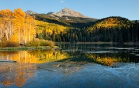 fall, quiet, evening, woods lake, telluride, colorado, san juan mountains, uncompahgre national forest, co