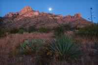 az, arizona, Chiracuhua Mountains, Coronado National Forest, moon