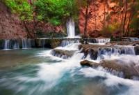 power, color, AZ, Arizona, Havasupai, Mooney Falls, Canyon, Havasu Creek, water, cascading, display, indian reservation,