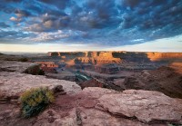 Dead Horse Point State Park, UT, Utah, Colorado River, overlook, cliffs, clouds, light, overlook