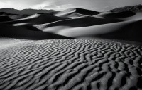 Death Valley National Park, CA, California, sand dunes, Mesquite Flat, dune, shadow, lines, textures, black and white, p