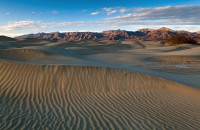 sand, sand dune, Grapevine Mountains, Nevada, California, CA, Death Valley National Park, Mesquite Flats, clouds, sunlig