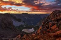 sunrise, weminuche, colorado, morning, light, illuminated, peak