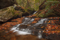 Jones Gap State Park, SC, South Carolina, Marietta, Middle Saluda River, Caesars Head State Park, Mountain Bridge Wilderness, autumn, waterfall