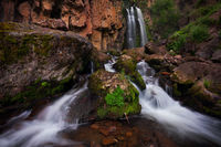 Rough Creek Falls, South San Juan Wilderness, waterfall,  CO, Colorado