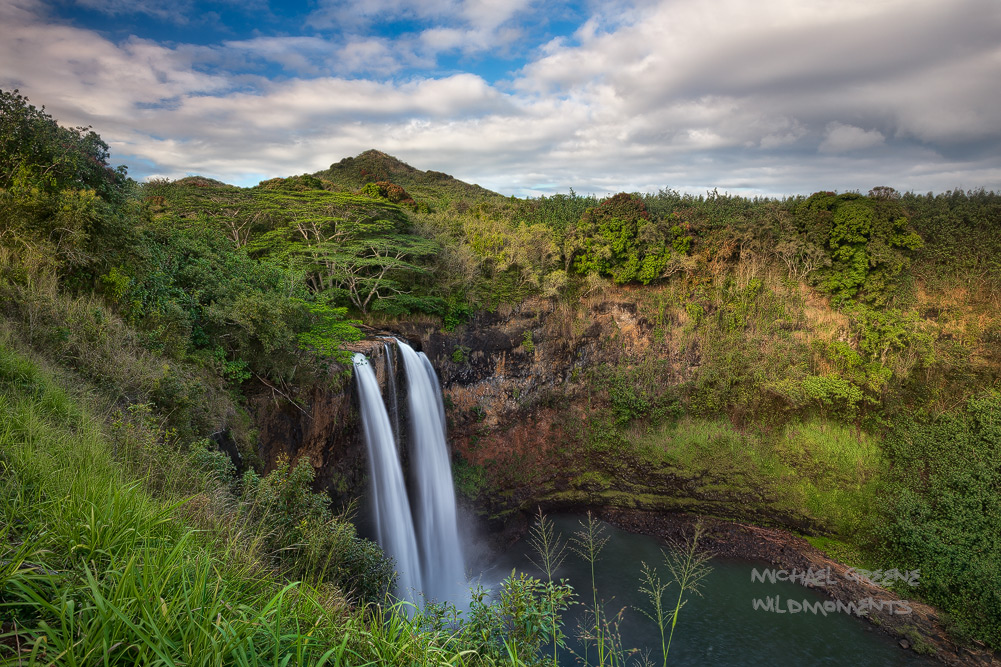 Wailua Falls, waterfall, Wailua River, Lihue, Kauai,, photo