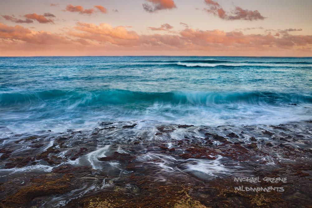 sunset, waves, tide pools, cove, Lihue, Hawaii,  coast , sea, hike, Kauai, photo