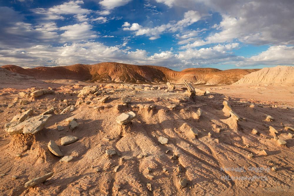 AZ, Arizona, Petrified Forest, Painted Desert, Holbrook, vistas, clouds, moon, black forest, vistas, national park, badlands, photo