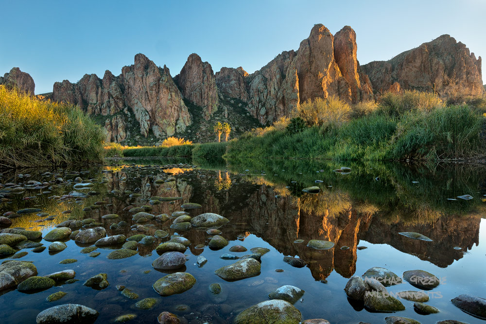 reflections, Salt River, Mesa, AZ, Arizona, Tonto National Forest, autumn, afternoon, sublime, photo