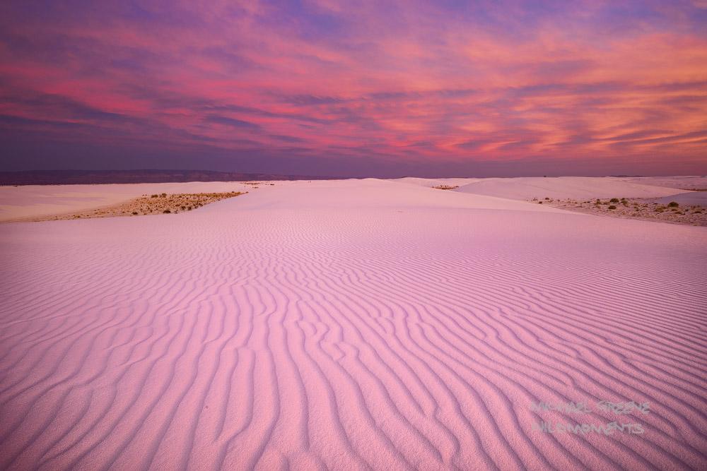 backpacking, epic, sunset, NM, New Mexico, White Sands National Park, surreal, landscape, Alomogordo, Tularosa Basin, spectacular, light, photo