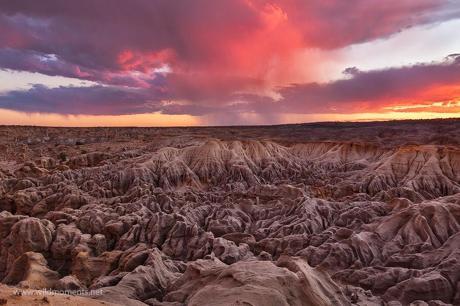 san juan basin, NM, New Mexico, storm, sunset, photo