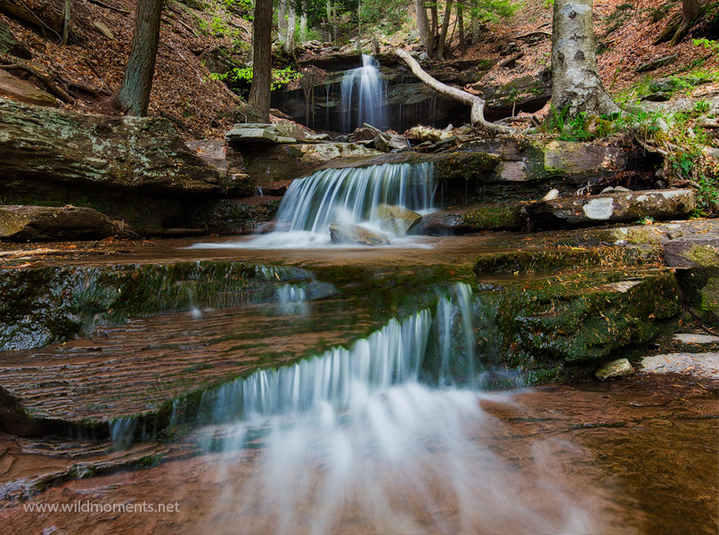 waterfall, gibson falls, pa, loyalsock state forest, cascade, off trail, photo