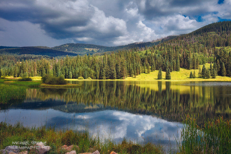 Henderson Lake, Weminchue Wilderness, Missionary Ridge, Durango, Colorado, CO, picturesque, photo