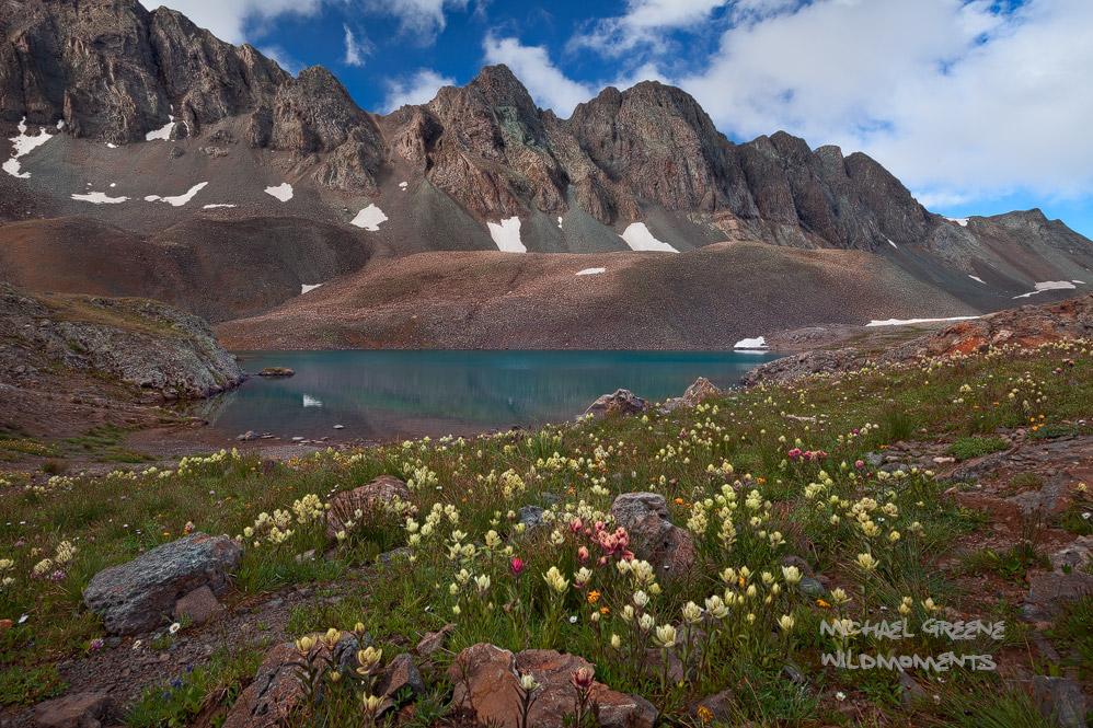 American Basin, CO, Colorado, Sloan Lake, Gunnison National Forest, San Juan Mountains, Silverton, Lake City, paintbrush, photo