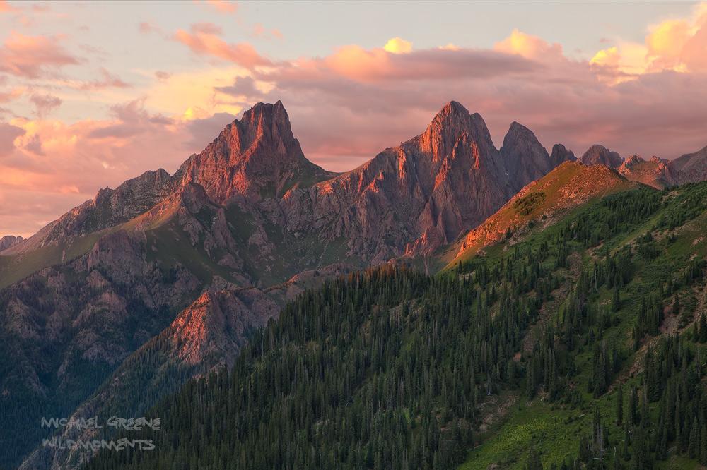 Pigeon Peak, Turret Peak, Weminuche Wilderness, backcountry, Durango, Colorado, CO, San Juan National Forest, San Juan Mountains, photo