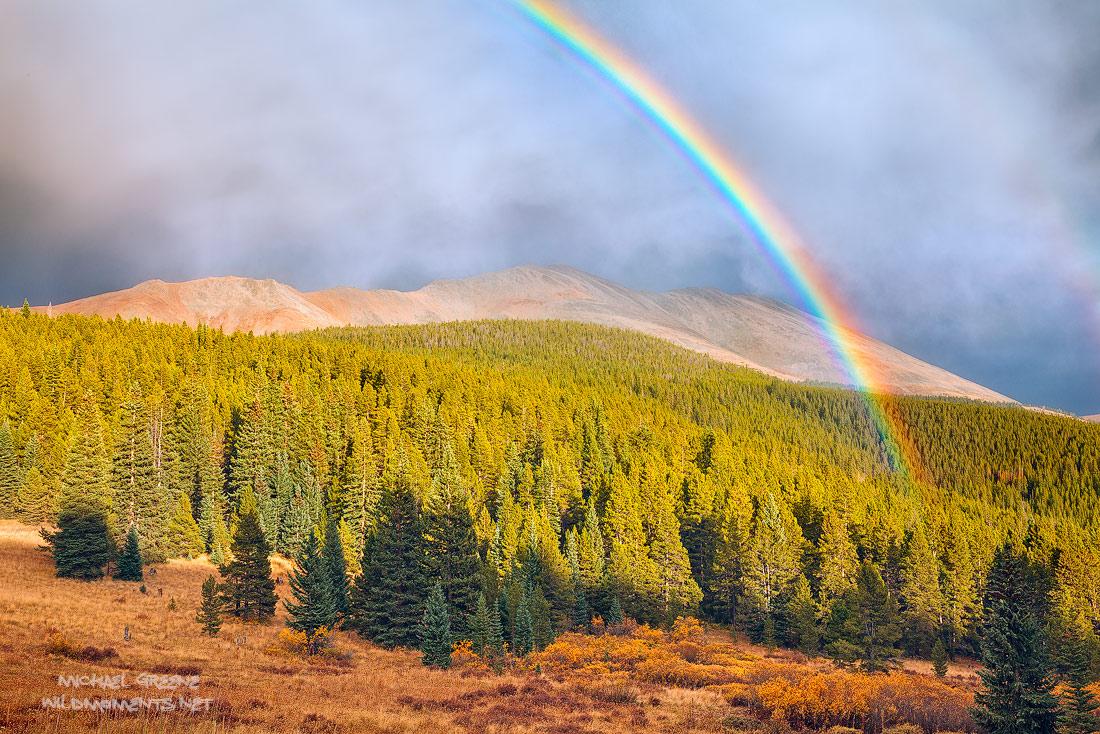 Breckenridge, Colorado, CO, Boreas Pass, rainbow, autumn, weather, light, dramatic, mountains, photo