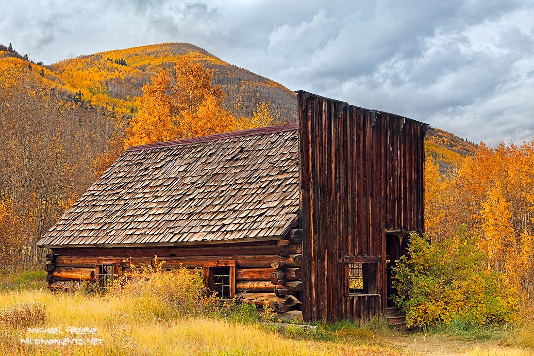 Ashcroft, CO, Colorado, ghost town, autumn, colors, storm, light, Aspen, building, rustic, White River National Forest, photo