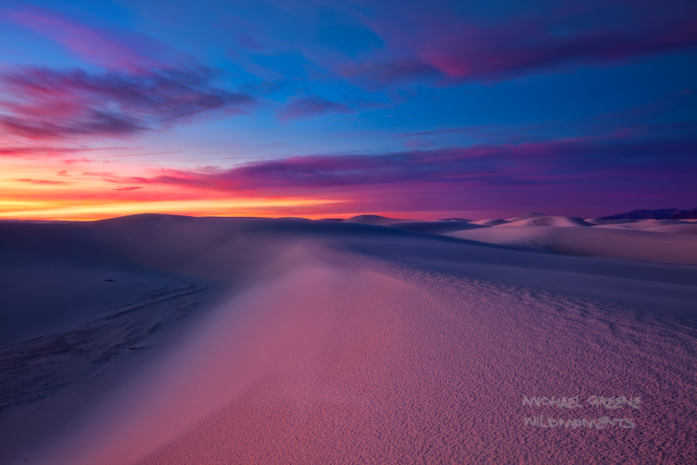White Sands, National Monument, Las Cruces, NM, New Mexico, full moon, sunrise, epic, sand dunes, lighting,  magnificent, , photo