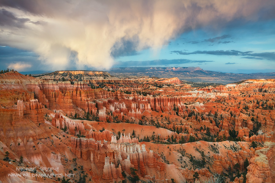 Bryce Canyon National Park, Utah, clouds, sunset, UT, photo