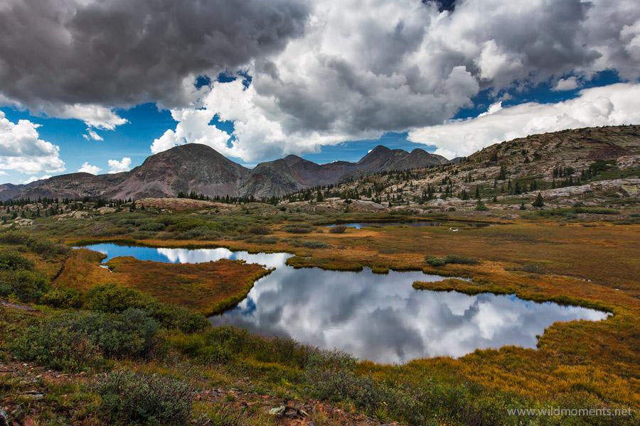 Flint Lakes, alpine, thunderstorms, Weminuche, Wilderness, Colorado, photo
