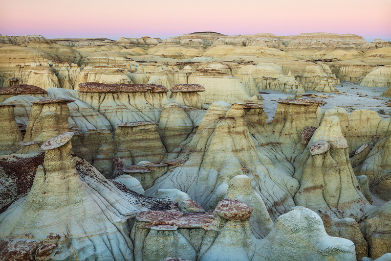 new mexico, badlands, twilight