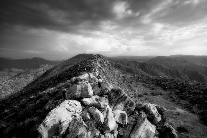 Arizona, black and white, tonto national forest, storm, mountains, desert, photo