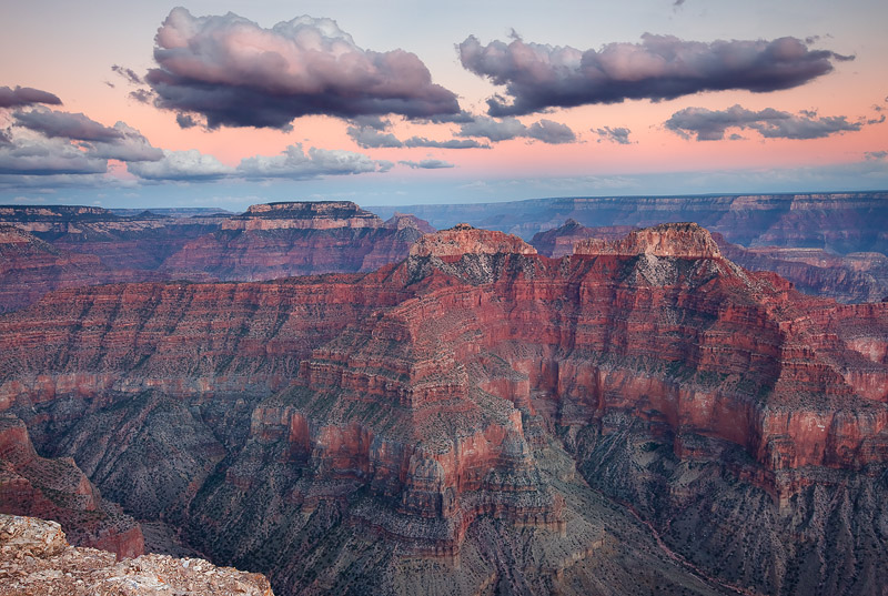 Grand Canyon National Park, Point Sublime, sunset, clouds, North Rim, South Rim, Colorado River, backcountry, windy, AZ, photo