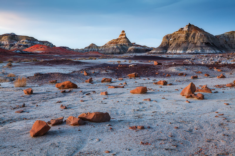 moonscape, bisti wilderness, nm, new mexico, blue hour, photo