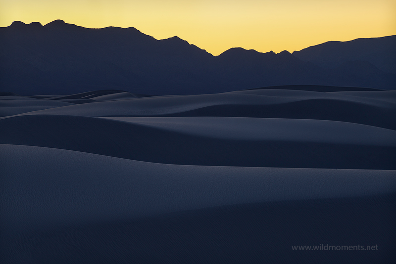tularosa basin, san andreas mountains, white sands national monument, new mexico, gypsum, white sand, abstract, blue, yellow, photo
