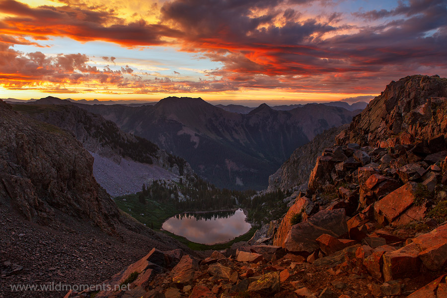 sunrise, weminuche, colorado, morning, light, illuminated, peak