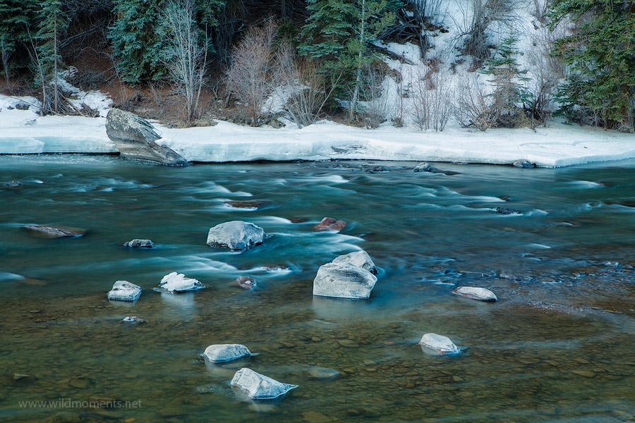 Rio Grande River, Crede, Colorado, CO, icy, image, photo