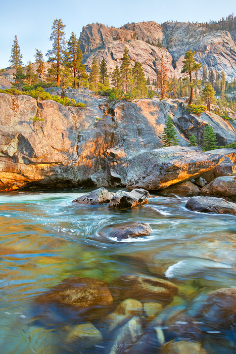 Tuolumne River, Yosemite National Park, CA, California, Grand Canyon of the Tuolumne, trees, rapids, peaks, granite, bea, photo